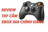 Review tay cầm xbox 360 chính hãng giá rẻ.