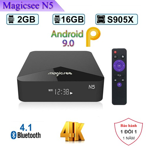 Android TV Box Magicsee N5 - Ram 2GB - Android 9.0
