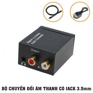 Bộ Chuyển Tín Hiệu Đổi Âm Thanh Quang Học Optical Có Cổng 3.5mm (Thế Hệ 2018)