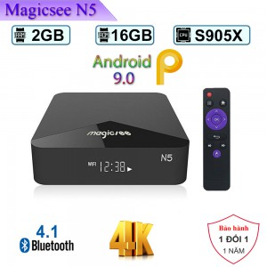Android TV Box Magicsee N5 -Ram 2GB, Rom ATV - CPU Amlogic S905X