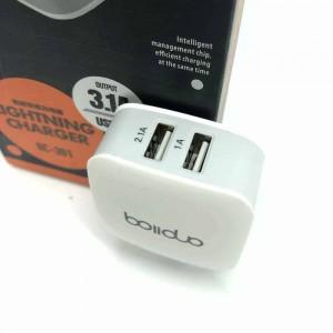 Củ Sạc Nhanh Boliduo BC-301 Hỗ Trợ 2 Cổng USB