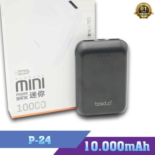 Pin Sạc Dự Phòng Boliduo P24 - Dung Lượng Pin 10000mAh