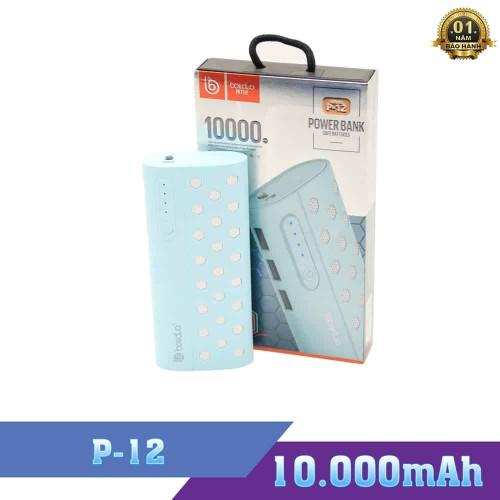 Pin Sạc Dự Phòng Boliduo P12 - Dung Lượng Pin 10000mAh