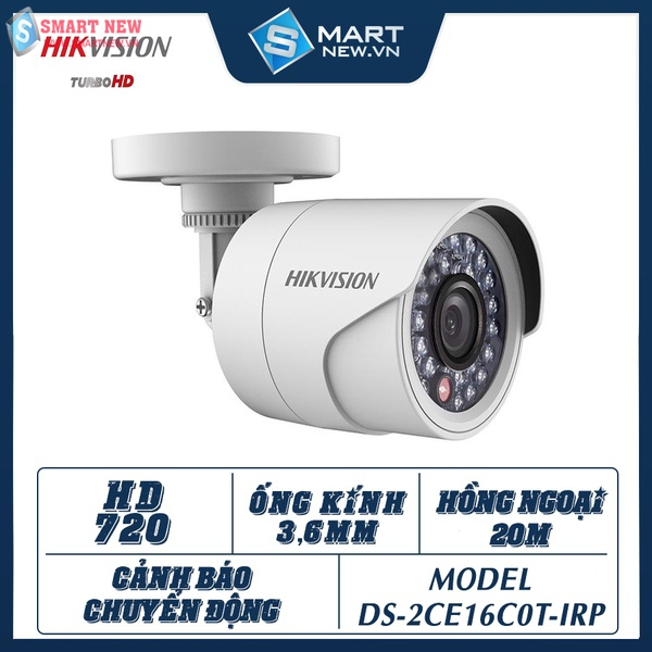 Camera giám sát ngoài trời Hikvision DS-2CE16C0T -IRP - HD720 - 1.0MP