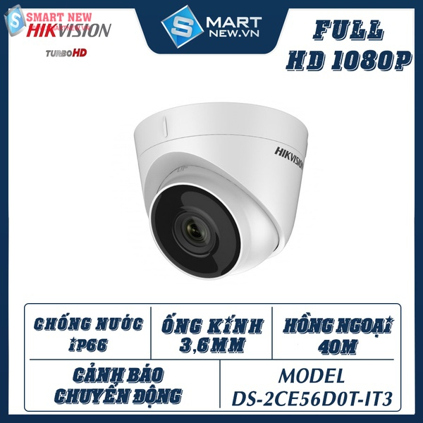 Camera giám sát trong nhà Hikvision DS-2CE56D0T - IT3 HD1080P- 2.0MP