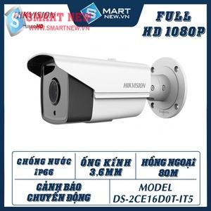 Camera Hikvision Ngoài Trời DS-2CE16D0T - IT5 - 2.0MP-FULL HD 1080P- Chống nước IP66