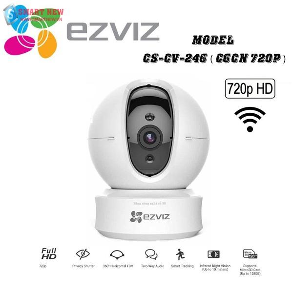 Camera giám sát không dây wifi EZVIZ C6CN - Xoay 360