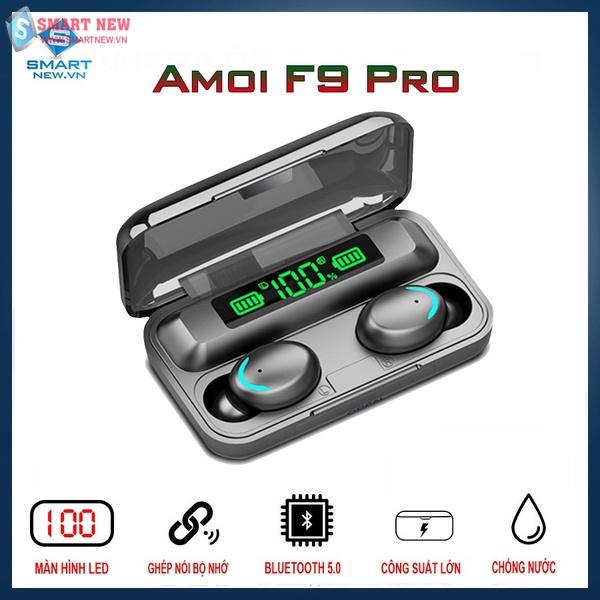 Tai nghe AMoi F9 Pro Bluetooth 5.0 - Kết nối không dây - Chống nước IP67 - Pin 2000maH - Dùng 600 tiếng