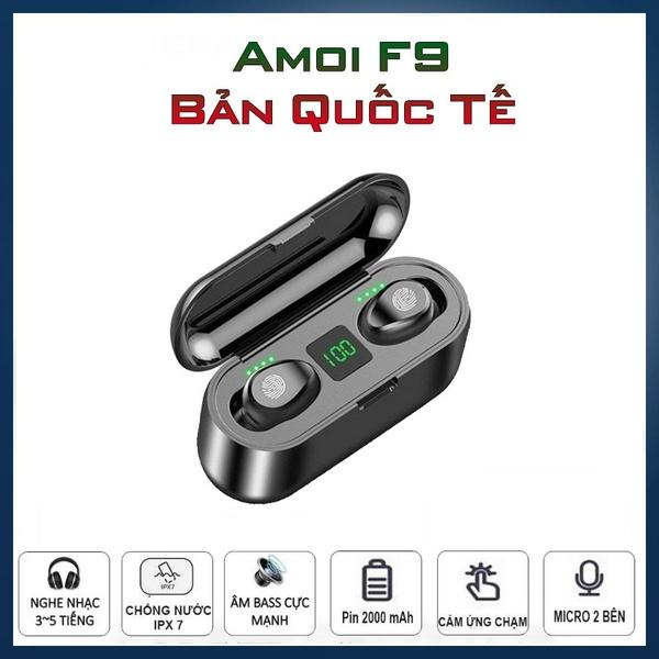Tai nghe không dây bluetooth Amoi F9 - Cảm biến vân tay - Pin 280 giờ - Chống nước IPX7