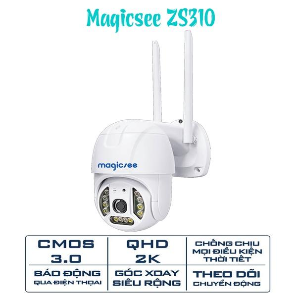 Camera giám sát ngoài trời không dây wifi Magicsee ZS310, Cmos 3.0, 2K