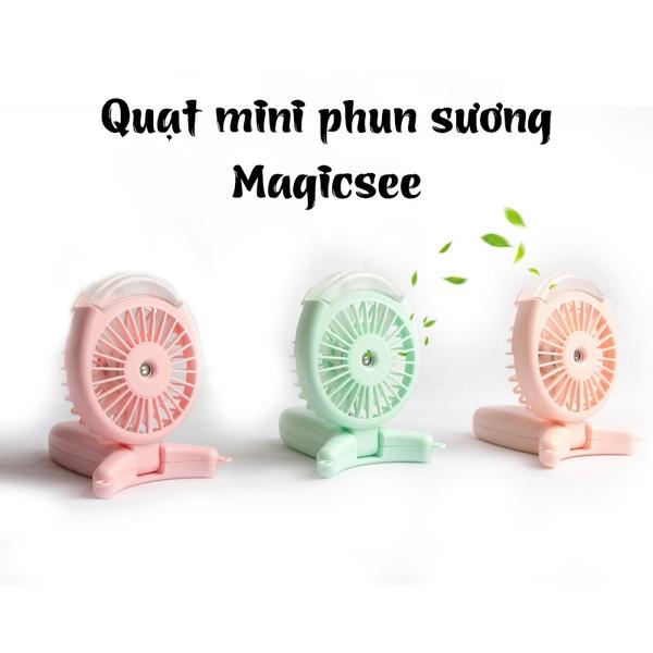 Quạt phun sương cầm tay mini đa năng Magicsee tích hợp 6 trong 1