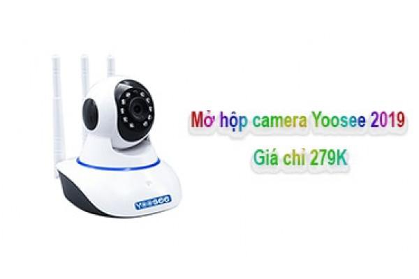 Mở hộp camera giám sát Yoosee 3 râu phiên bản 2019 mới nhất