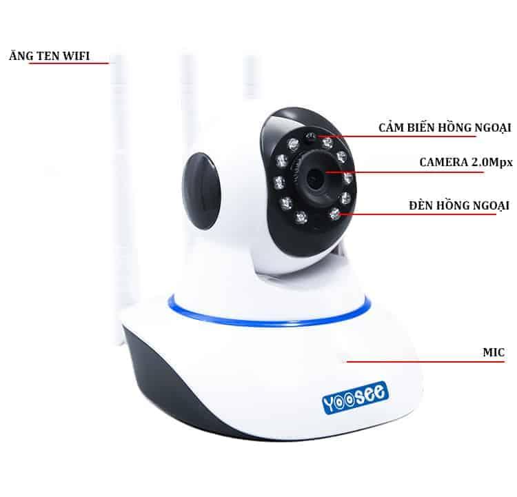 Camera Giám Sát Yoosee - 3 Râu IP Không Dây 5