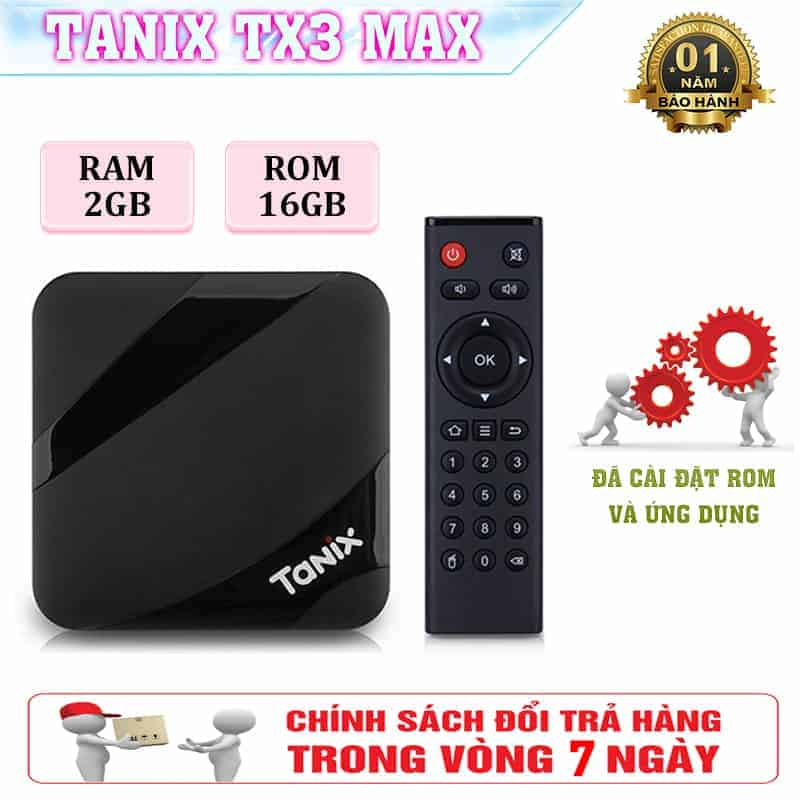 TX3 MAX Android TV Box - Android 7.12, Bluetooth 4.0, UX Alice 2