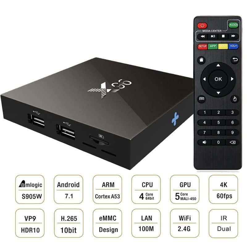 TV Box X96 -W 2018 hệ điều hành Android 7.12, RAM 2GB, ROM 16GB 5