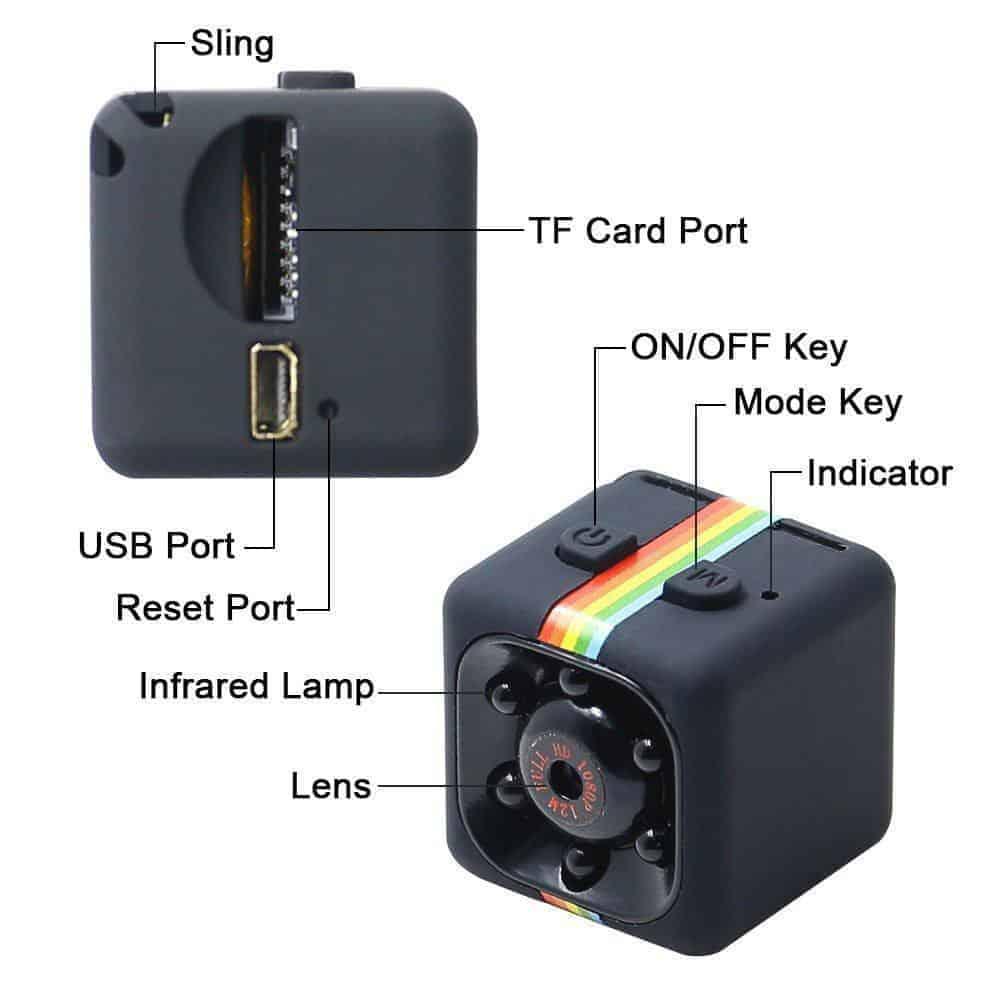 Camera Hành Trình Thể Thao SQ11 – Hỗ Trợ Hồng Ngoại 3