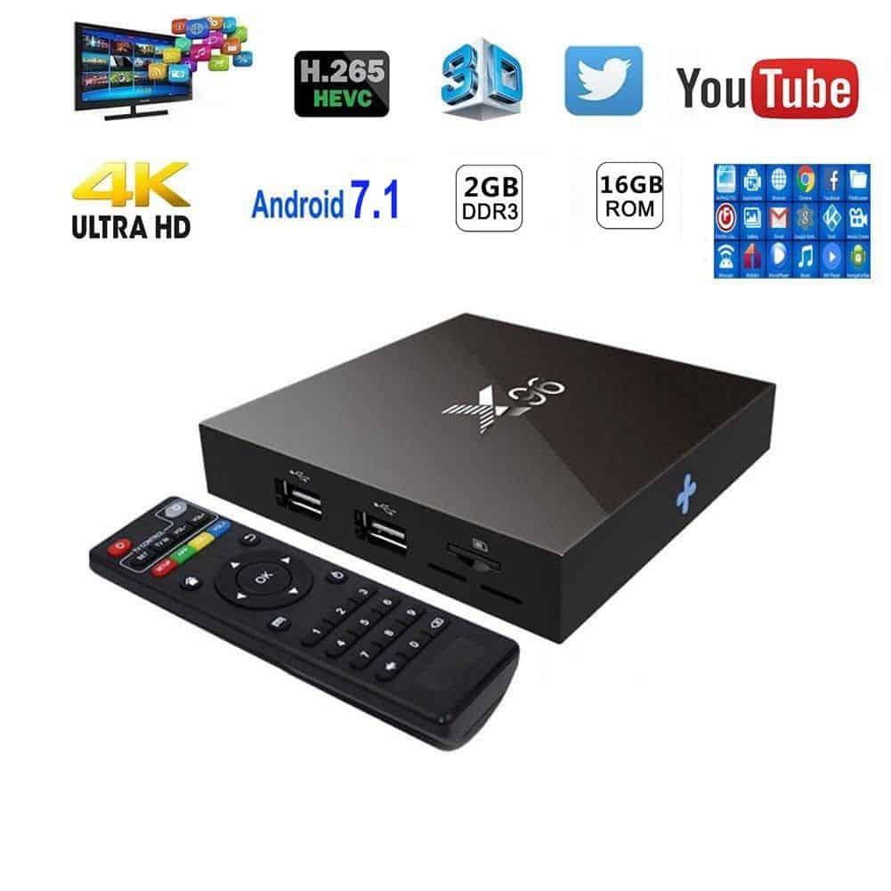 TV Box X96 -W 2018 hệ điều hành Android 7.12, RAM 2GB, ROM 16GB 3