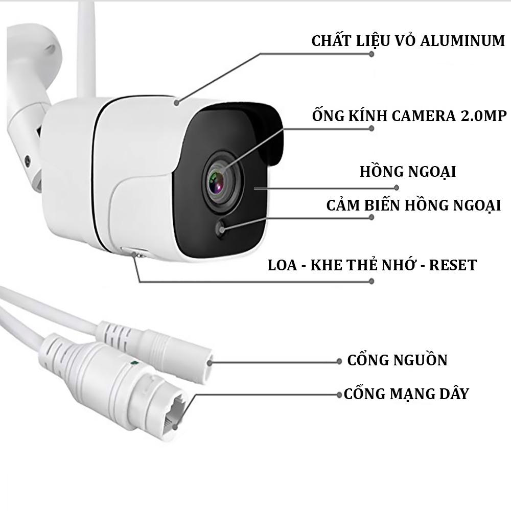 Camera Yoosee 2 Râu Ngoài Trời S200M – Mắt Camera 2.0 MP 4