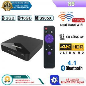 Android TV Box Magicsee N5 -Ram 2GB, Rom ATV - CPU Amlogic S905X 2