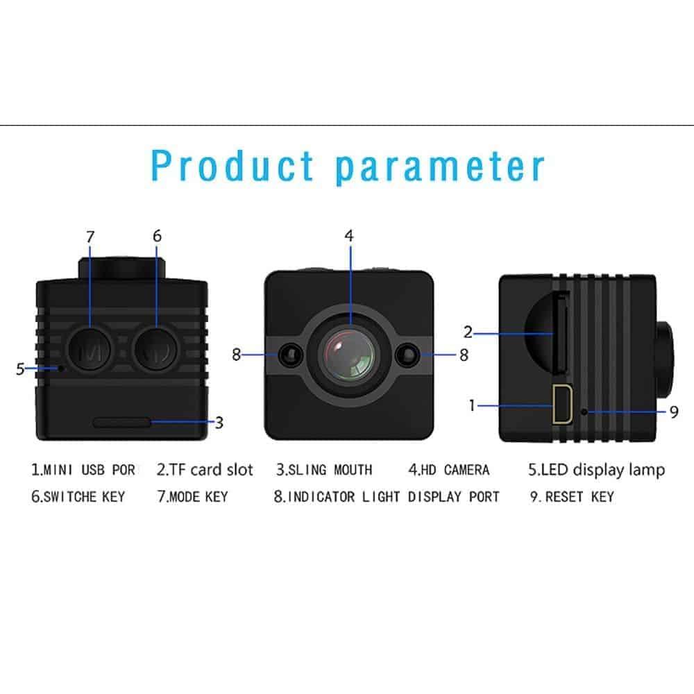 Camera Hành Trình Thể Thao SQ12 – Camera Siêu Nhỏ Và Tiện Lợi 4