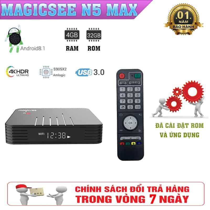 Tivi box Magicsee N5 Max – Trải Nghiệm Âm Thanh Hình Ảnh Sống Động