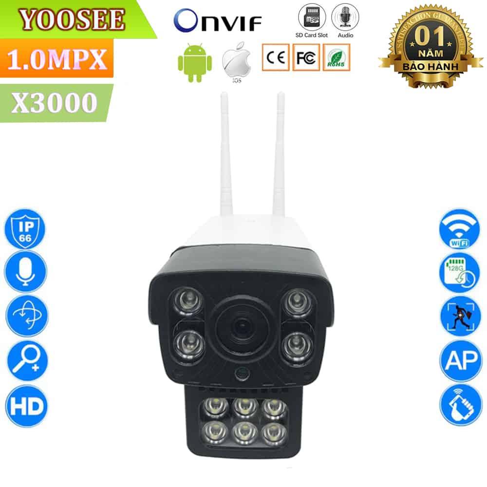 Camera Ngoài Trời Yoosee 2 Râu X3000 – Mắt Camera 1.0Mpx, Full 720HD 2