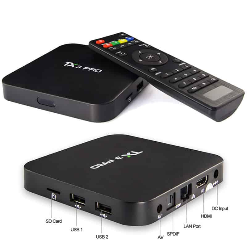 Cấu tạo của Tivi Box TX3 Pro