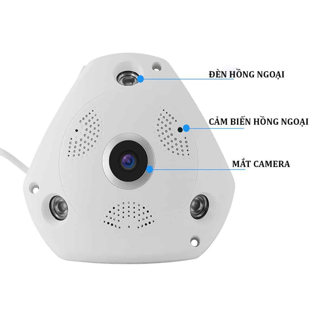 Camera Ốp Trần, Tường Wifi Yoosee VR370 – Camera Giám Sát Thế Hệ Mới 7