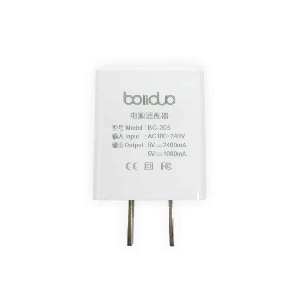 Củ Sạc Thông Minh 2 Cổng USB Boliduo BC-205 - Hỗ Trợ Sạc Nhanh 2.4A 7