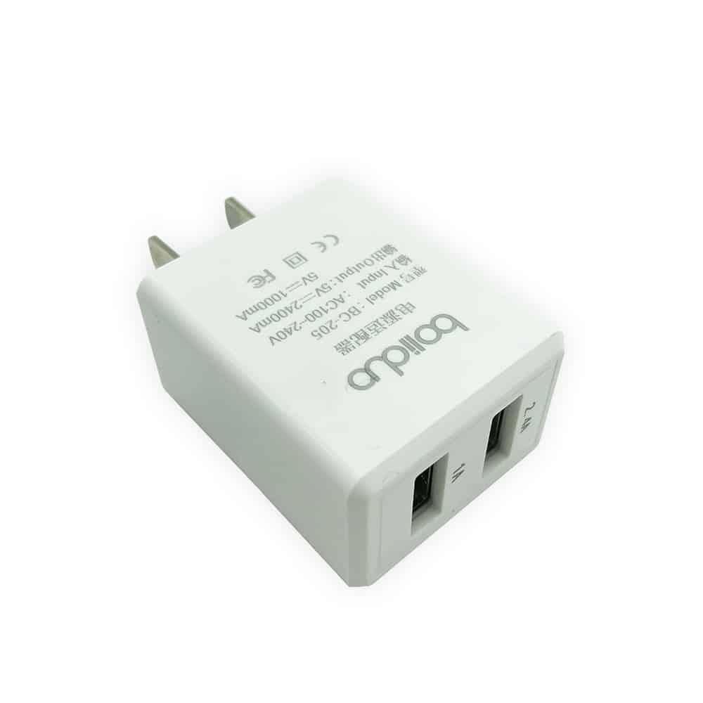 Củ Sạc Thông Minh 2 Cổng USB Boliduo BC-205 - Hỗ Trợ Sạc Nhanh 2.4A 8