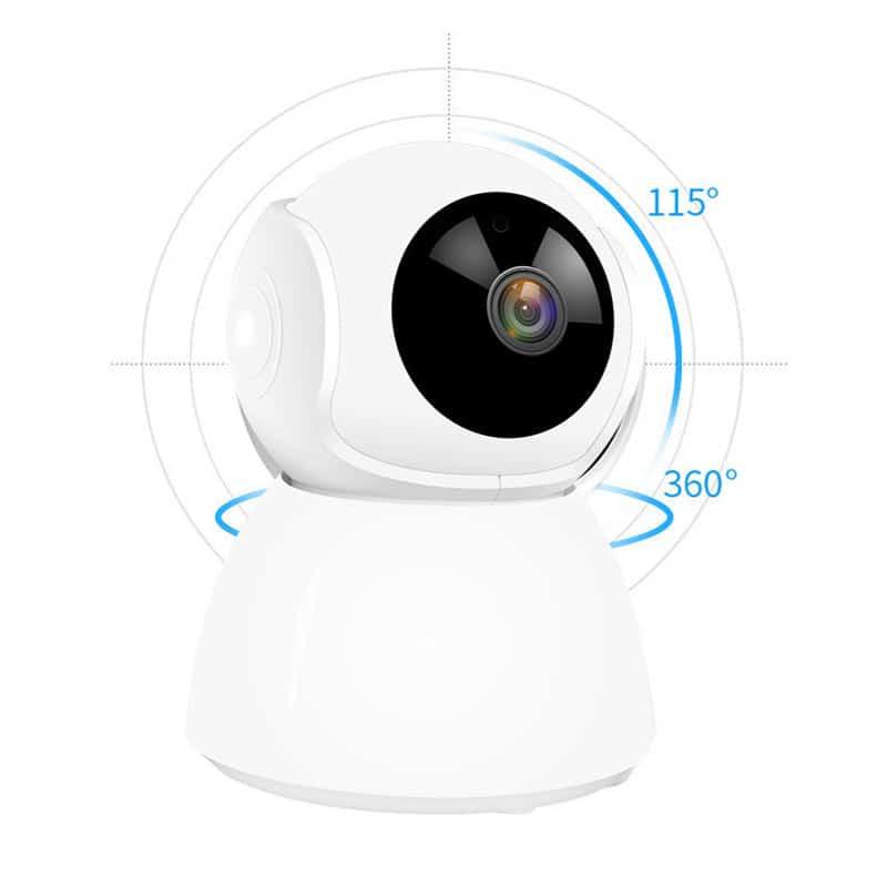 Góc quay 150 độ của Camera giám sát V380 - Q9