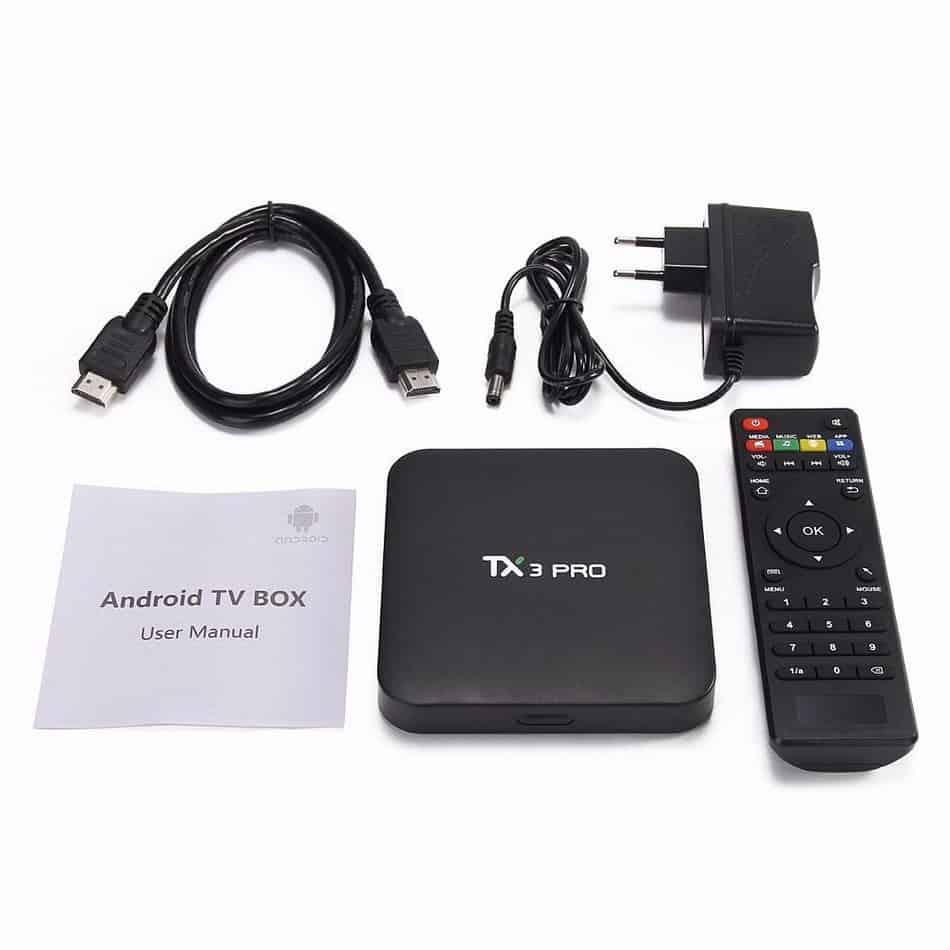 Bộ sản phẩm Tivi Box TX3 Pro
