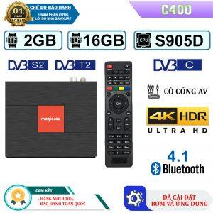 Android TV Box Magicsee C400 – Android 7.1, Ram 2GB, Rom 16GB - Bảo Hành 1 Năm 2