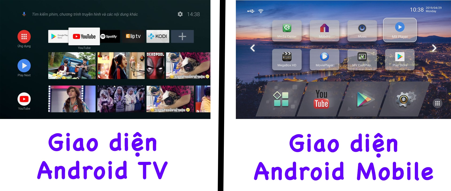 giao diện android 9.0