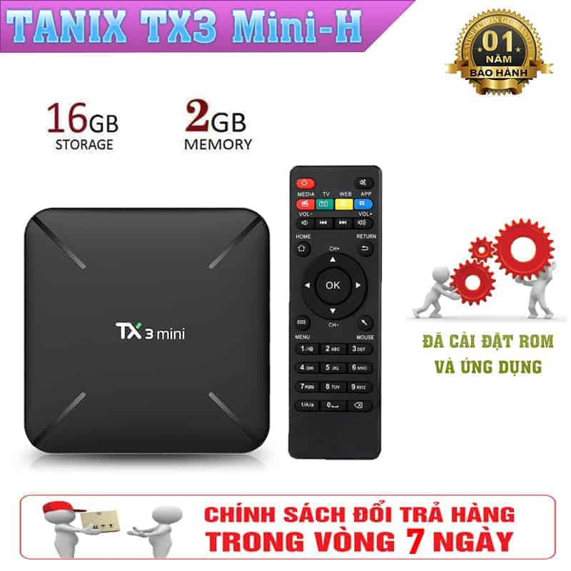Android TV Box Tanix TX3 Mini-H - Cấu Hình Ram 2GB, Rom 16GB, Android TV Box Giá Rẻ 2