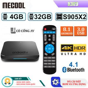 Android TV Box Mecool KM9 - Ram 4GB, Rom 32GB Hệ Điều Hành Android 8.1 2