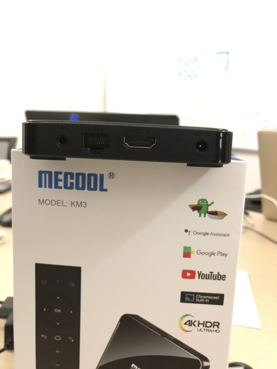 android tv box mecool km3, smart new