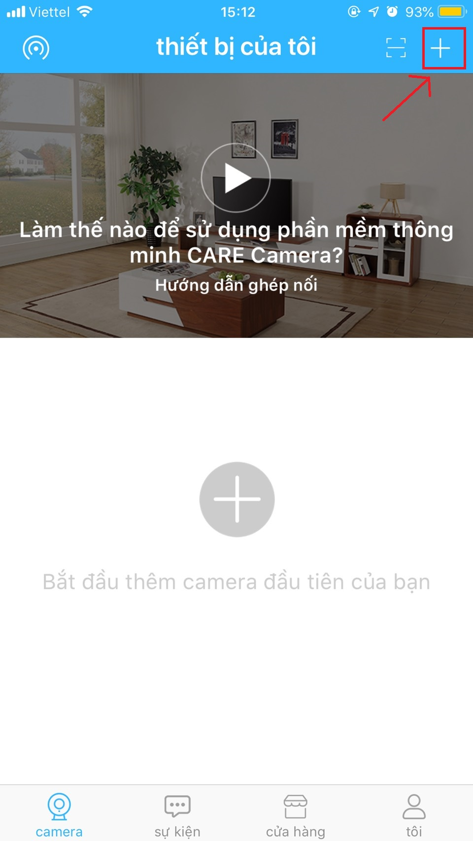 hướng dẫn care camera. smart new