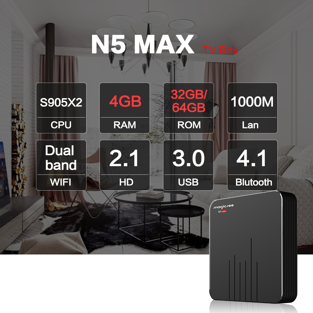 Magicsee N5 Max Cấu Hình Ram 4Gb - Rom 32GB