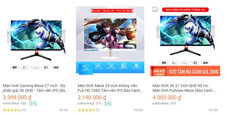 Miễn phí ship toàn quốc cho khách hàng đặt mua màn hình máy tính Meze