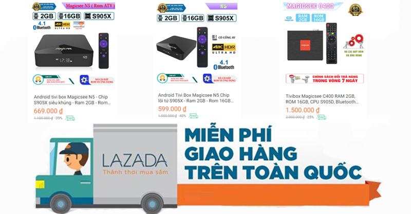 Miễn phí vận chuyển cho đơn hàng mua Android Tivi Box Magicsee