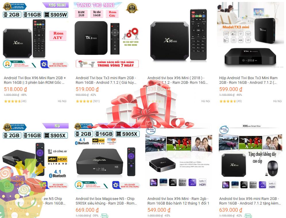 Android Tivi Box giá rẻ trong chương trình khuyến mại