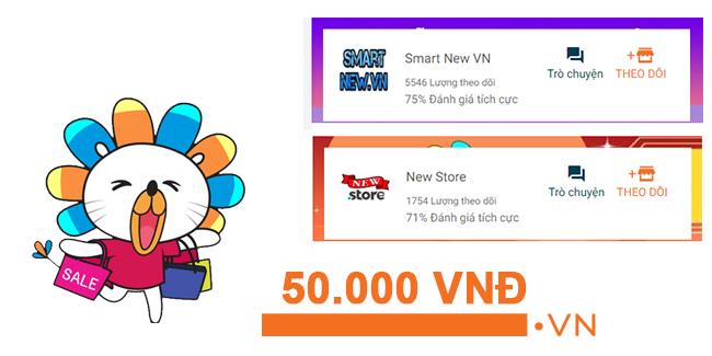 Thu thập Voucher trên Smart new Vn và New Store trên Lazada