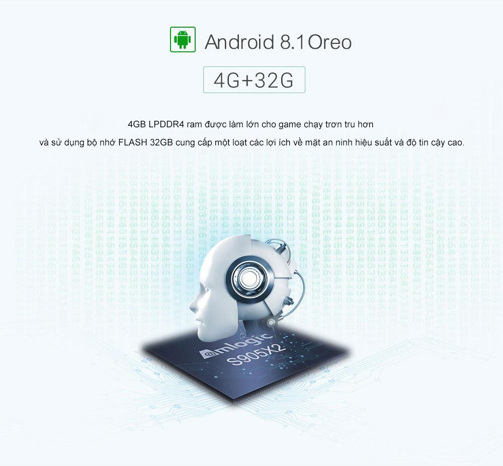 Android Tivi Box KM9 - hệ điều hành Android 8.1