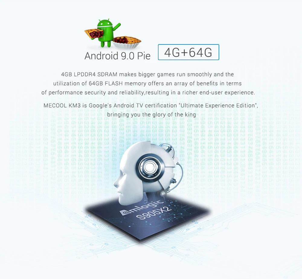 Trang bị chip S905X2 cùng với bộ nhớ 64GB Rom