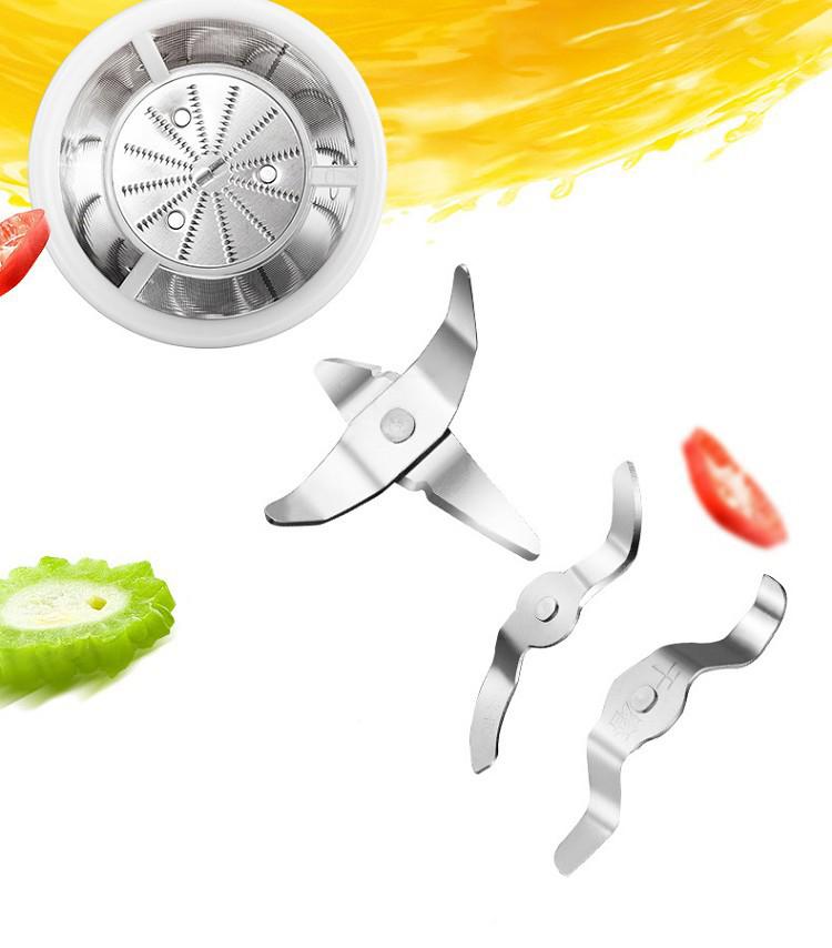 Lưỡi dao và bộ lọc được làm từ chất liệu thép không gỉ