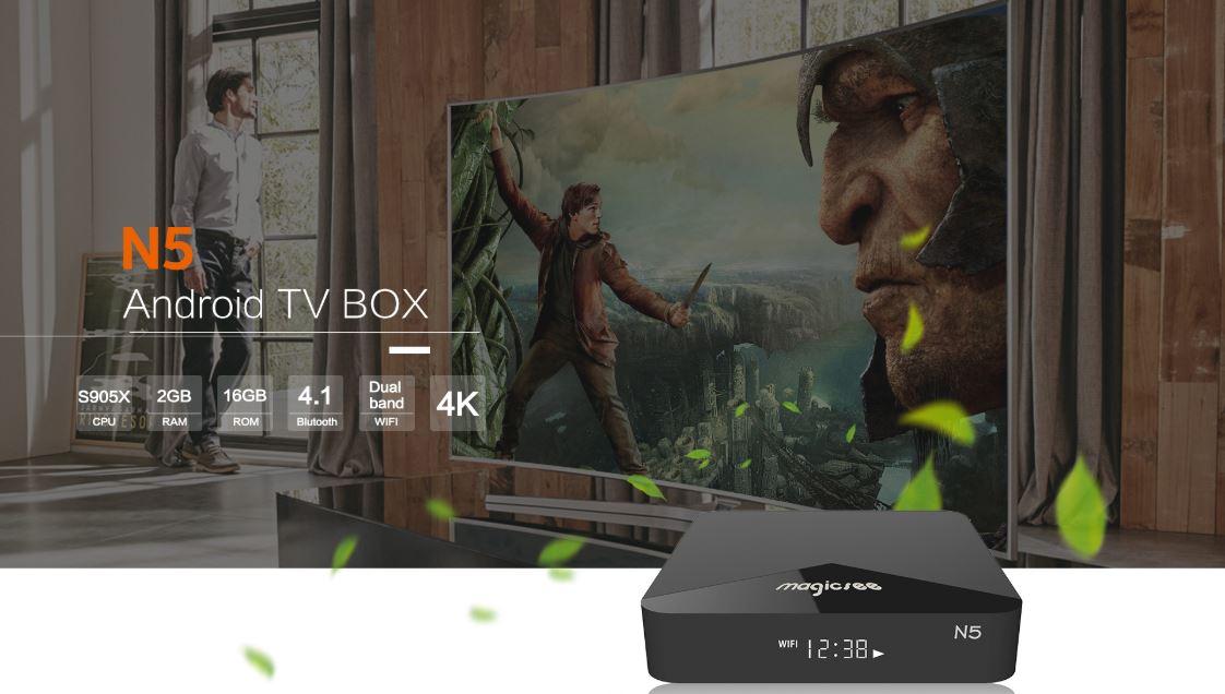 Android Tivi Box Magicsee N5 - Review đánh giá
