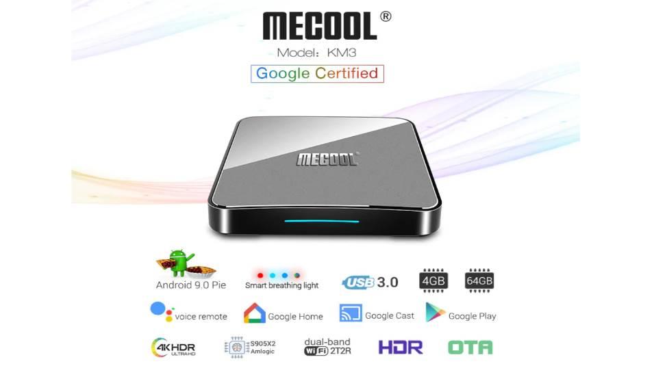 Mecool KM3 chạy hệ điều hành Android 9.0 của Google chính chủ