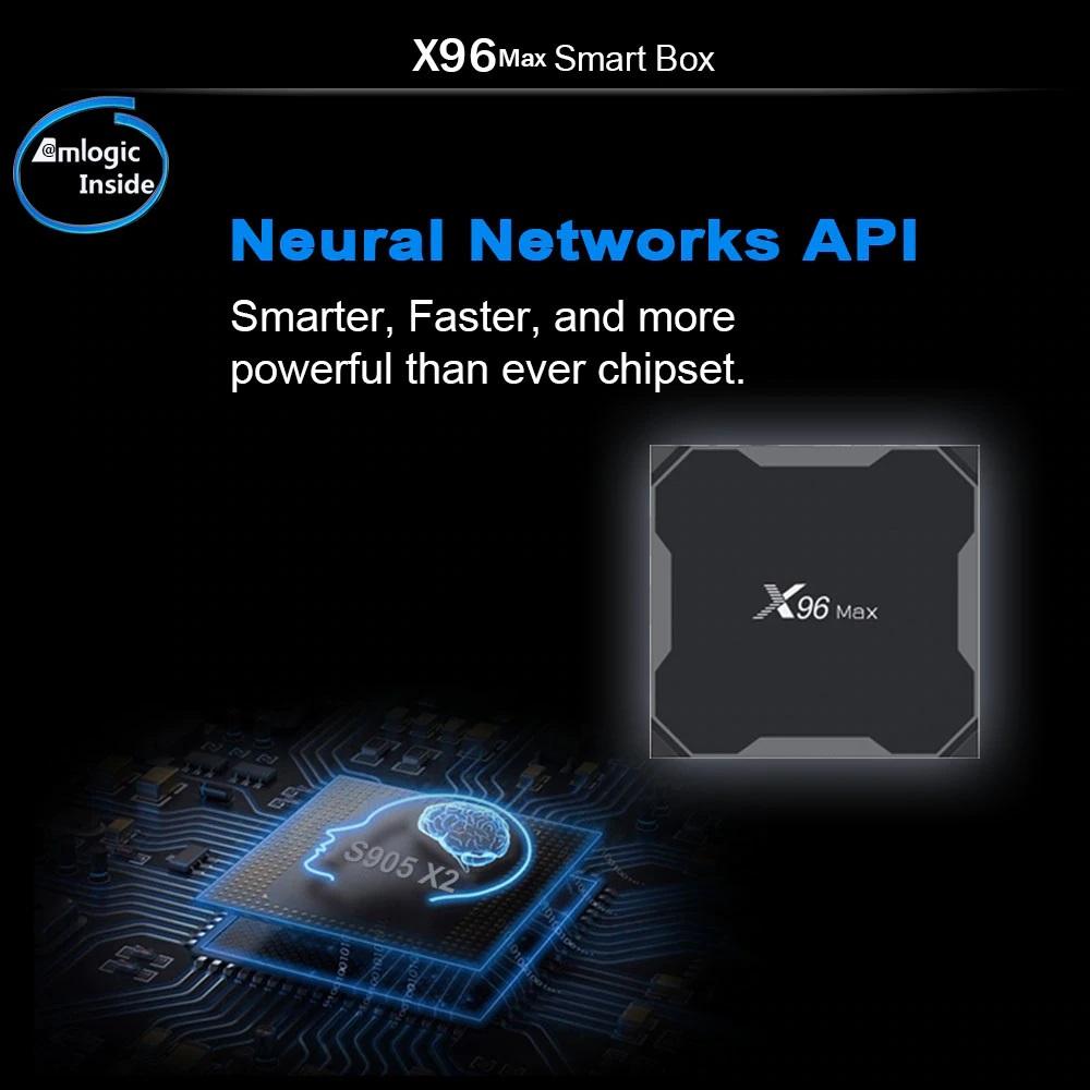 Chip S905X2 trên Android Tivi Box X96 Max