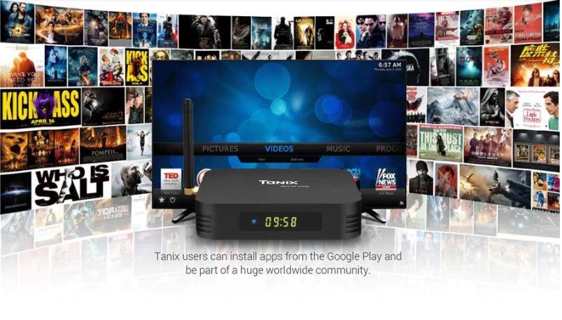 Android Tivi Box Tanix TX6 - hệ điều hành Android 9.0